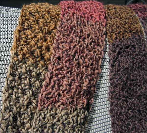 loom knitting stitches loom knit double seed stitch scarf loom knitting ...