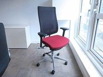 Very smart used task chairs with upholstered seat and mesh back. Fully adjustable and very comfortable.
