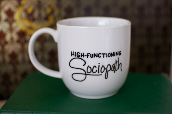 Sherlock HighFunctioning Sociopath Hand Painted by abirdinthehand, $15.00