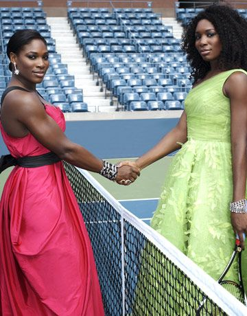 Serena and Venus are incredible athletes and impeccable role models for sportsmanship (I can not imagine having to compete with my brother in front of the world - and I'm not sure it would be pretty).  Serena has 40 career tennis titles and older sis Venus has 43, and as if winning weren't enough - they look great doing it.