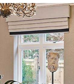 Roman With Pelmet And Bottom Trim Sitting Room Ideas