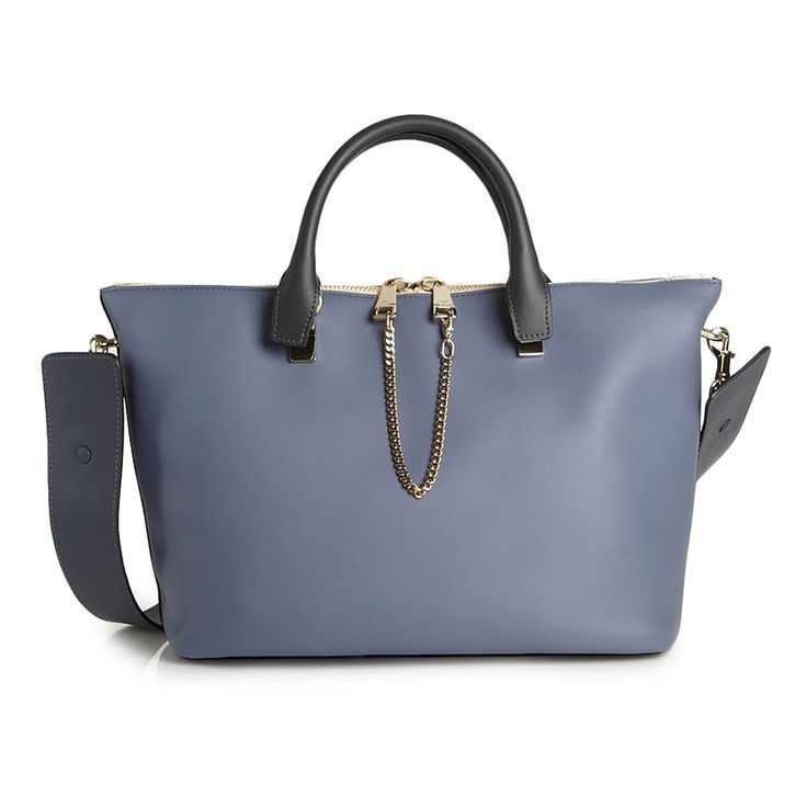Chloé Baylee Small Two-Tone Satchel - Shop Luxury Bags | Editorialist