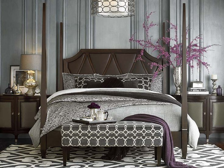 bassett bedroom sets. Leather Upholstered Cosmopolitan Poster Bed by Bassett Furniture  51 best Beds images on Pinterest beds