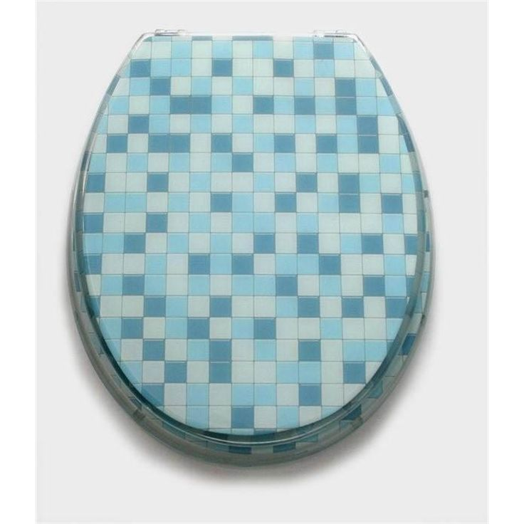 Seat-toilet Loo With a View Mosaic Blue Seat 2 Pce I/N 5140085   Bunnings Warehouse