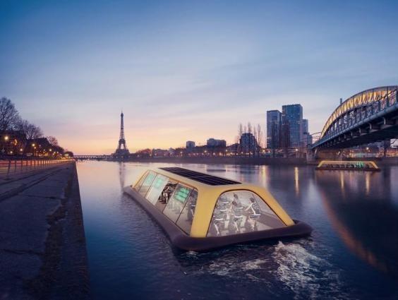 Boas ideias - um barco/ginásio movido a energia humana! http://palavrasdoabismo.blogspot.com/2016/12/boas-ideias-14-um-barco-ginasio-movido.html #ginásio #gym #cycling #sena #paris