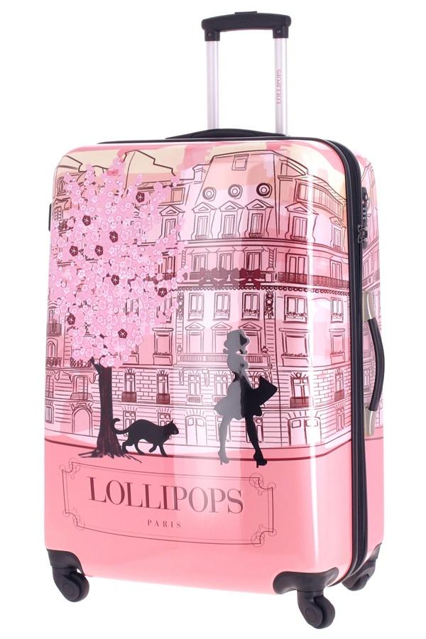 valise lollipops grand trolley rigide avec 4 roulettes de la marque lollipops glamour et. Black Bedroom Furniture Sets. Home Design Ideas