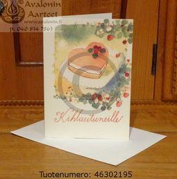 Minna Immonen engagement card / Minna Immosen kihlajaiskortti