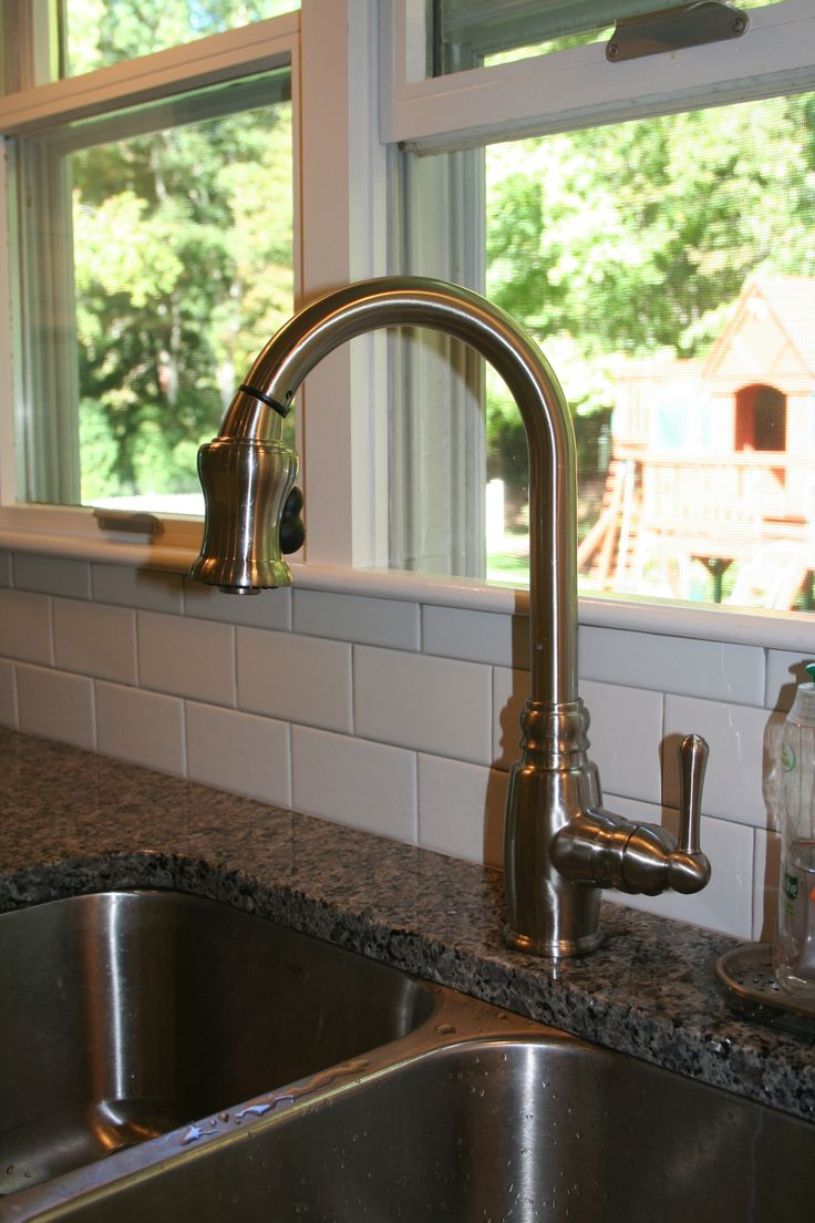 kitchen handle chrome pull out parma faucet in sprayer danze p faucets single