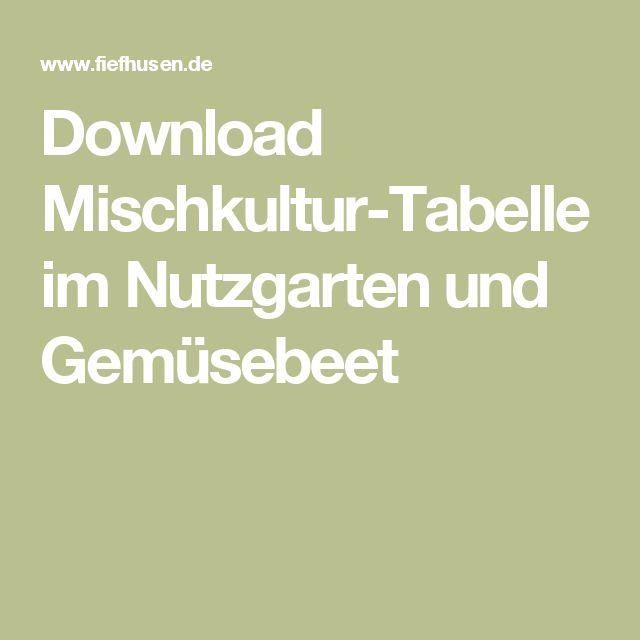 download mischkultur tabelle im nutzgarten und gem sebeet garten garten gem segarten und. Black Bedroom Furniture Sets. Home Design Ideas