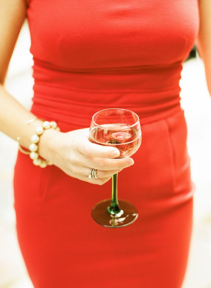 Red dress inks lake