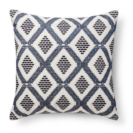 Blue/Tan Diamond Oversized Throw Pillow - Threshold™ : Target