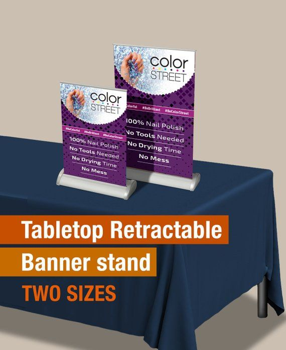 Color Street Table Banner Stand Printed Full Color Retractable Banners Colorstreet Banner Stands Retractable Banner Color Street