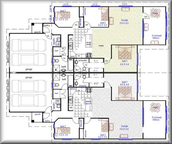 1000 images about country retreat on pinterest house for Up down duplex floor plans