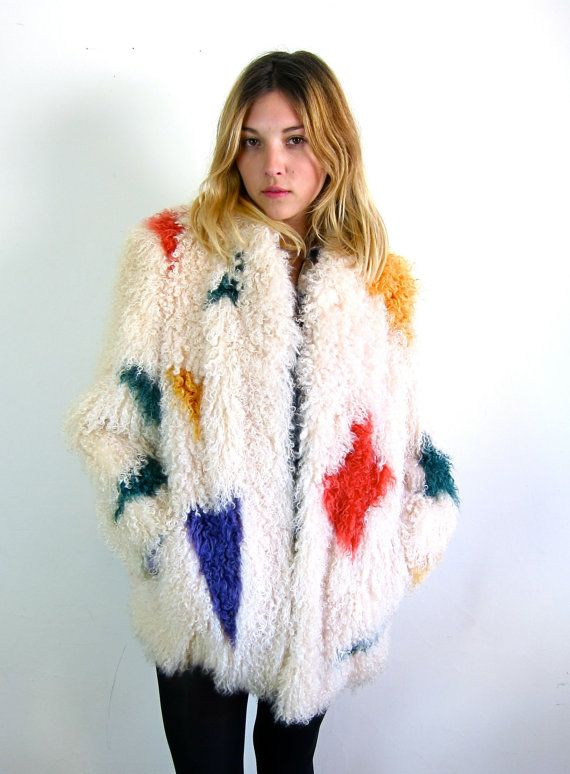Amazing Colorful 60's Shearling Coat by asecretshop