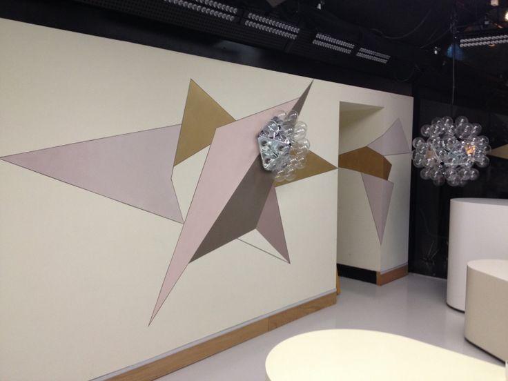 Væg i Go' studiet #TV2 christina Winsløv
