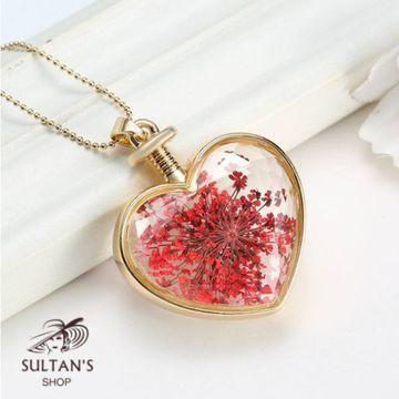 Kurutulmuş çiçekli Kalp 50 TL