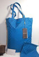 Gucci Mama Tote Blue Nylon Rp.3.300.000  12L x 17H x 5D
