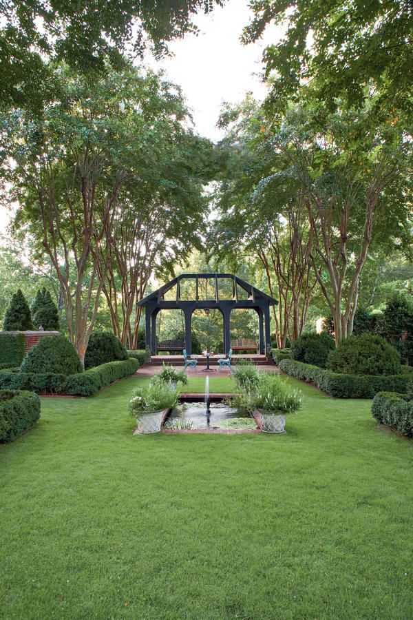 Formal Lawn - Photos: Tour These Designer Gardens - Southernliving. It doesn't matter whether you have a big yard or a small one, a little money or a bundle, or if you're working on your first garden or your 12th. As the following success stories demonstrate, paying homage to a few key points can make the difference between a garden you love and one you won't show the neighbors.    Read More: Good Bones Make Great Gardens Symmetry rules this garden. A center line (axis) passes through the…