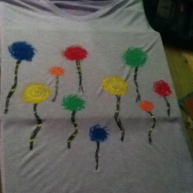 Homemade truffala tree shirt: Trees Color