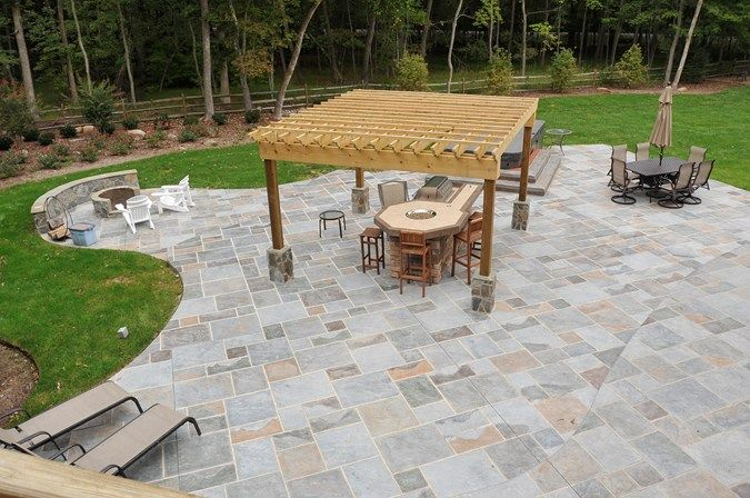 Stamped Concrete Patio Featuring Increte S Old English