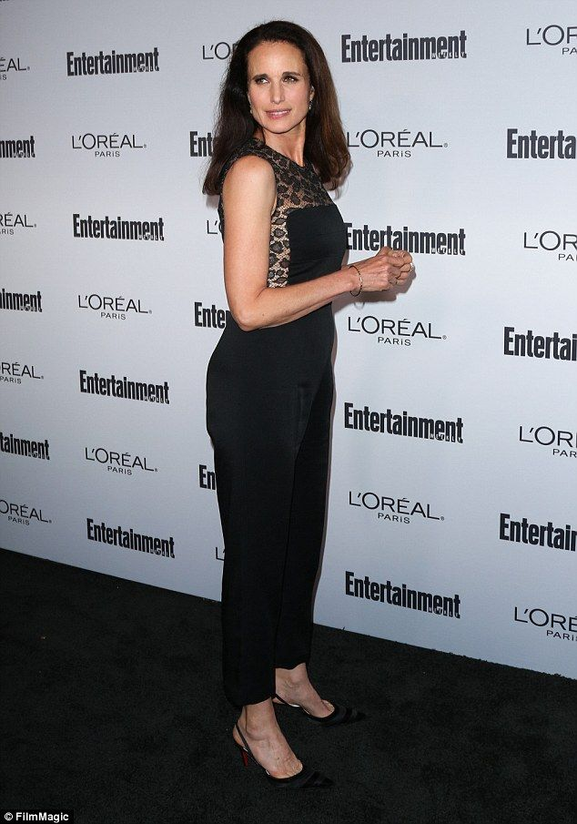"""Be bold in a lace jumpsuit from McQueen like Andie MacDowell Click """"Visit"""" to buy  #DailyMail"""