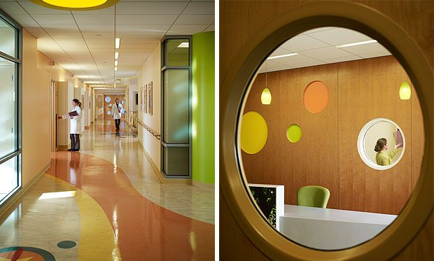 TK Architects - University of Minnesota Amplatz Childrens Hospital; love all the color, as well as the sophisticated yet whimsical design.