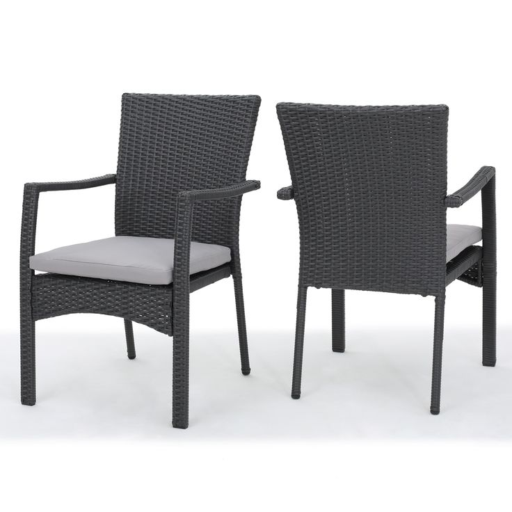 Corsica Outdoor Wicker Dining Chair with Cushion