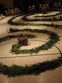 Advent Spiral Walk. Explains the history and what to do.