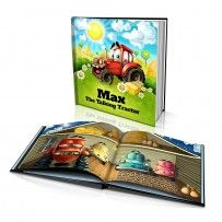 "Personalised Hard Cover Story Book:     ""The Talking Tractor"" / Dinkleboo"