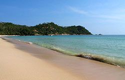 Phangan island north of Koh Samui.
