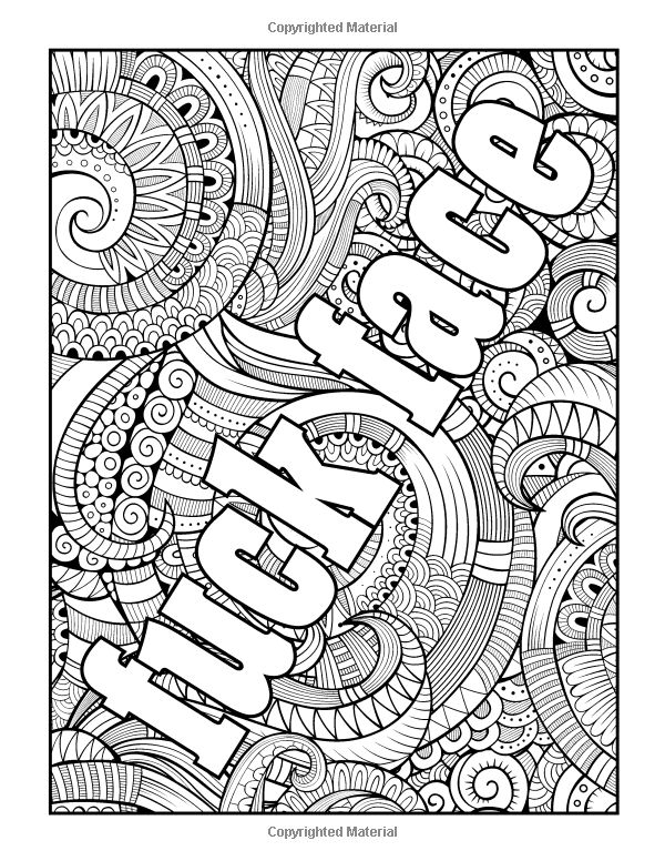 Swear word stress relieving coloring book 37 Coloring books for adults on amazon