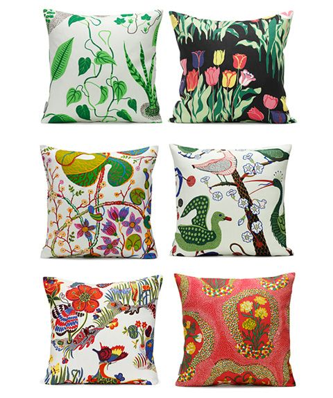 This totally inspires me to choose 6 of my loudest fabrics and make cushions for my couch that clash delightfully.