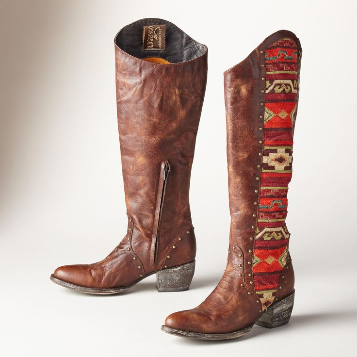 TELA ELINA BOOTS -- Old Gringo's leather and saddle blanket boots
