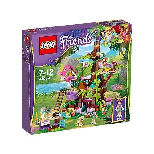 http://www.stuntwinkel.nl/lego-lego-friends-jungleboom-schuilplaats.html  Lego-Friends - Jungleboom Schuilplaats - 41059  Verzorg de dieren die door de LEGO Friends zijn gered, in het jungle-dierenverblijf.