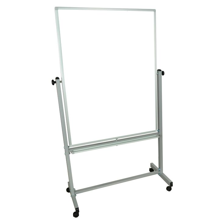 Luxor Wall-mounted Double-sided 48 x 36-inch Magnetic Whiteboard
