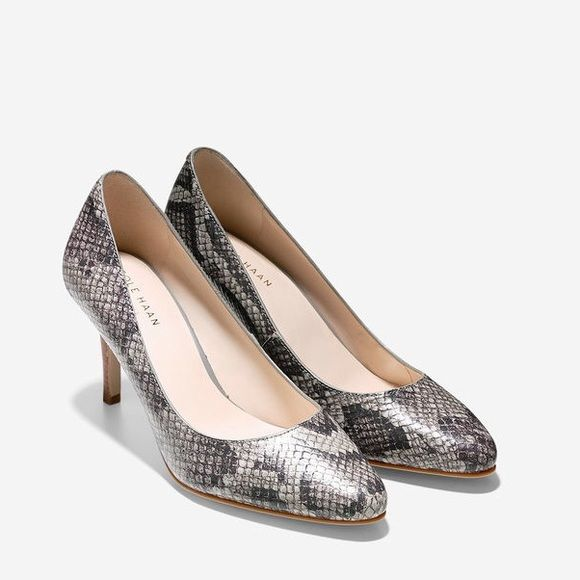 COLE HAAN IRONSTONE SNAKE PRINT! NEVER WORN! Cole Haan Ironstone Snake Print pumps! Never worn and in the box! Very clean! Only taken out of the box for pictures! Cole Haan Shoes Heels