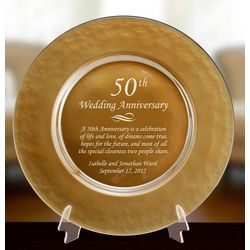 50th Anniversary Plate Wedding Giftanniversary Ideasgolden