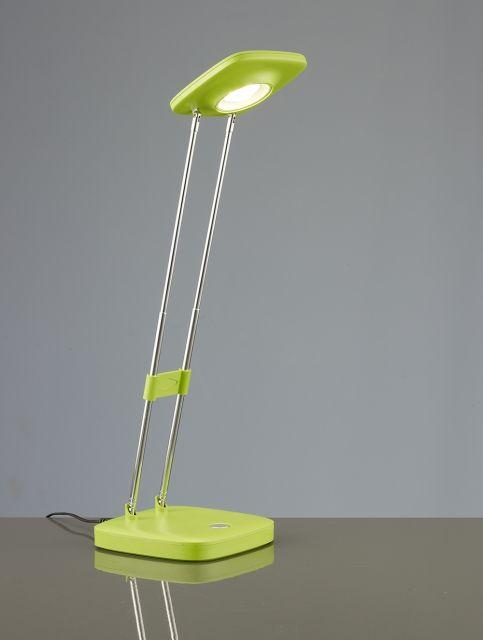 NADIR - pracovná LED lampa dotyková - 3W - zelený plast