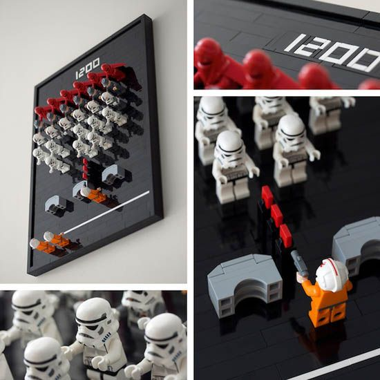 Lego Star Wars Space Invaders Wall Art