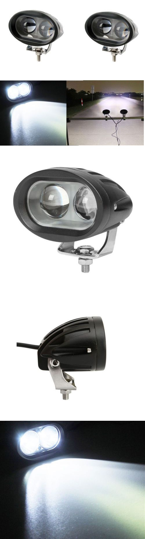 boat parts: 20W White Spreader Led Marine Lights (Set Of 2) For Boat (Spot Light) Waterproof BUY IT NOW ONLY: $38.69