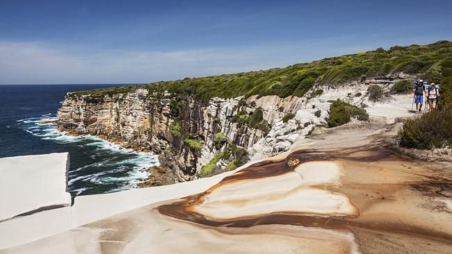 Hiking the spectacular Royal National Park.