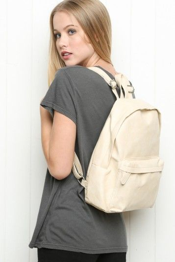 Brandy ♥ Melville | Faux-Leather Backpack - Bags - Accessories