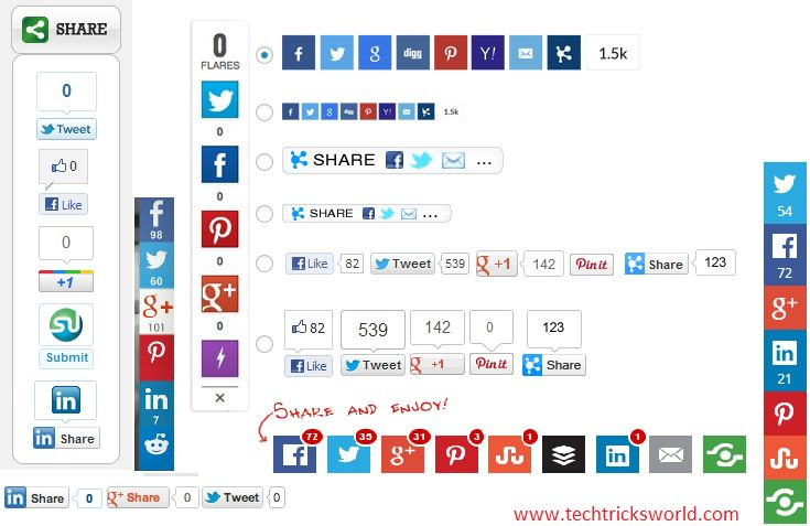 Thus your blogs must have social share buttons in order to make it easily share-able. There are multiple social sharing button plugins available for free.