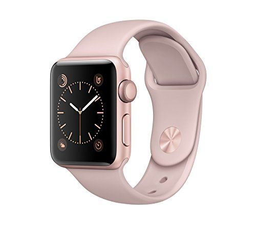 Apple+Watch+Series+2,+38mm+Rose+Gold+Aluminum+Case+with+Pink+Sand+Sport+Band