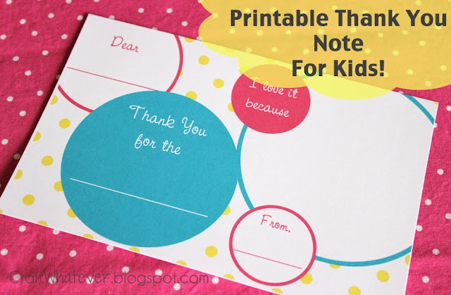 LOVE these free printable thank you notes for kids