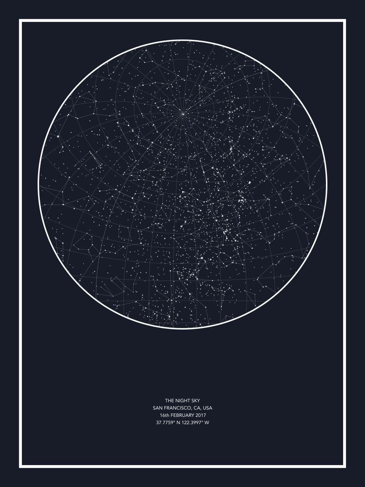 Night Sky Star Map Custom Star Map did this as a One year gift before so special so