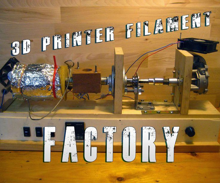 Build Your Own 3d Printer Filament Factory (Filament