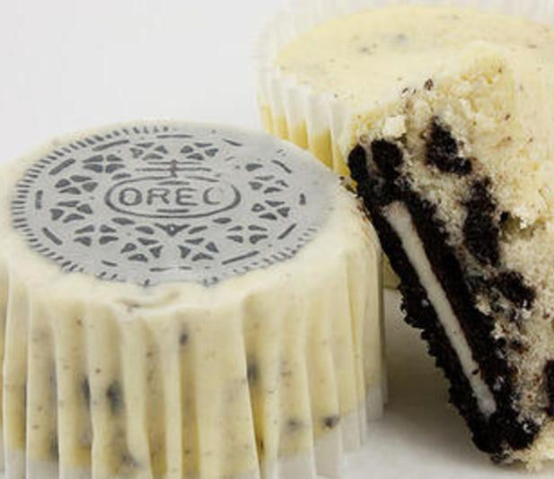 Someone made these for the potluck. They were A-Maze-Zing!!  Oreo Cheesecake Cupcakes