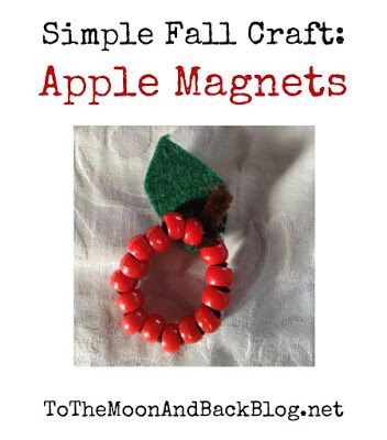To the Moon and Back: Bee Crafty Kids #23---Apple Magnets~A Simple Fall Craft {Guest Post}