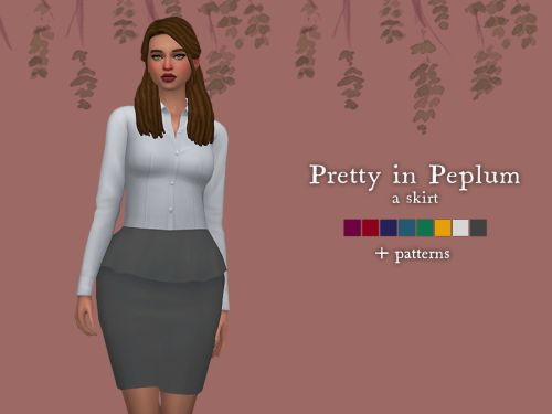 how to make a peplum skirt